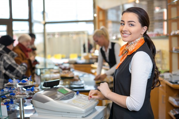 woman at cashier