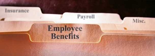 Employee benefits, payroll, insurance file folder cropped